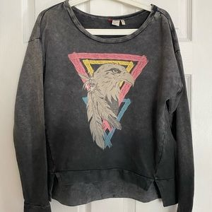 H&M Grey Ombre Eagle Print Sweatshirt